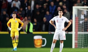 Harry Maguire and Jordan Pickford were unable to stop the Czech Republic's late winner.
