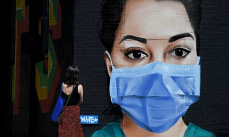 Street art in Shoreditch, east London. 'Staff should feel that they can raise their own or safety concerns without a sense of guilt or anxiety for their jobs. But many BAME medics do not feel able to do this.'