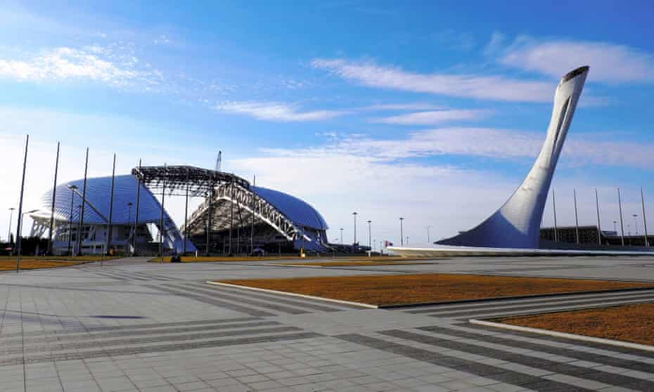 On ice … the deserted Sochi Winter Olympics site.