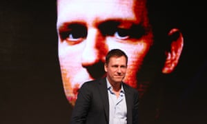 Peter Thiel, co-founder of PayPal, at a forum on entrepreneurship and investment in Beijing, 2015.