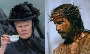 Queen and king of the screen … Judi Dench as Victoria and Jim Caviezel as Jesus.