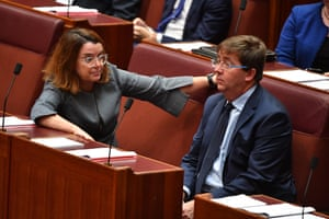 The assistant minister for agriculture, Anne Ruston, and the assistant minister to the prime minister, James McGrath, in the Senate on Wednesday