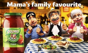 Dolmio advert for pasta sauce