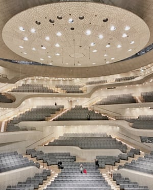 THe empty Elbphilharmonie music hall, in Hamburg