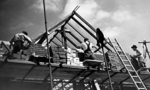 Workmen in Ilford in 1947