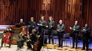 St John Passion at the Barbican, with Mark Padmore, third from right.