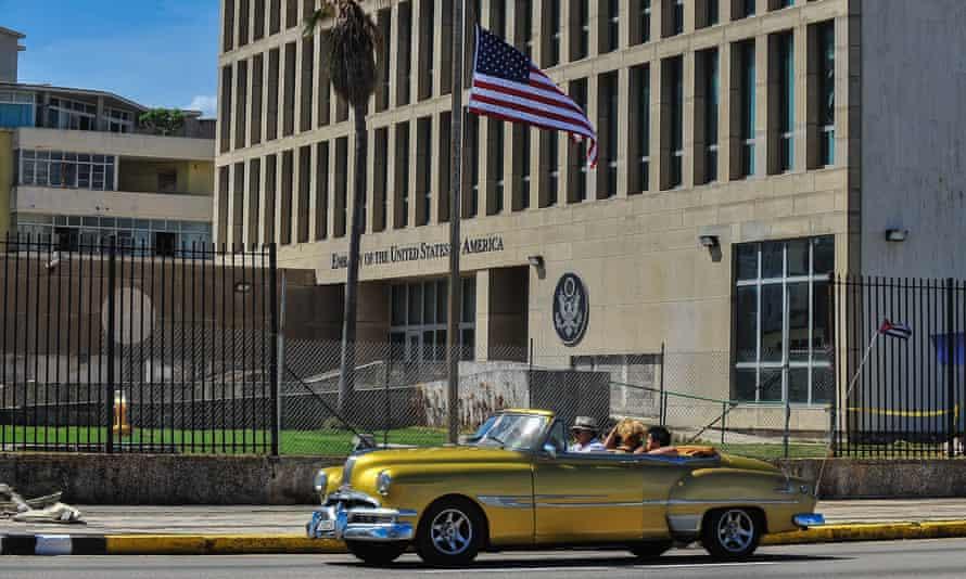 The US embassy in Havana, Cuba.