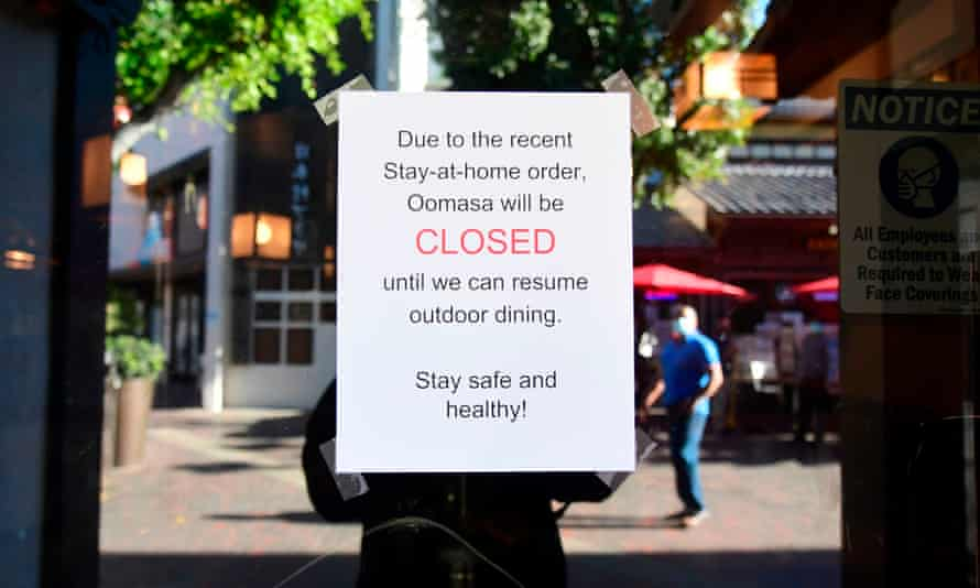 A restaurant announced its closure on 1 December. California lifted its stay-at-home order Monday.