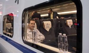 George Osborne in a train