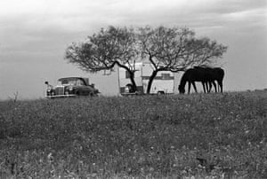 """Gillespie County, Texas, 1972.  Edwin and Paula Rausch, brother and sister who lived in the stone house built by their grandfather. """"The Rausch homestead reflected the backbreaking work of German family farmers who had immigrated to Texas when it was arepublic. It was built to last like the pyramids. Wendy Watriss and I worked in Gillespie County for two years to capture the German frontier of Texas."""" © Fred Baldwin and Wendy Watriss."""