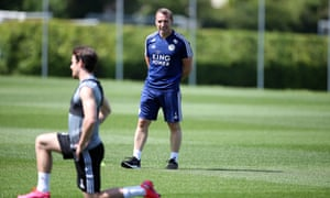 Brendan Rodgers oversees a training session this week