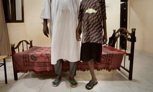 One of the boys who lost a leg with his father at the Khartoum safe house.