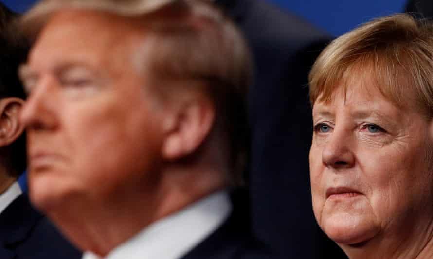 President Trump and Angela Merkel