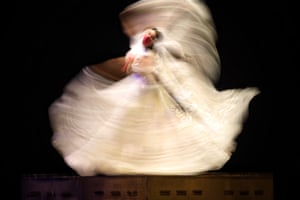 Mexico City, Mexico. A rehearsal of a folkloric ballet by Amalia Hernandez takes place at the Palacio de Bellas Artes after a year without live performances