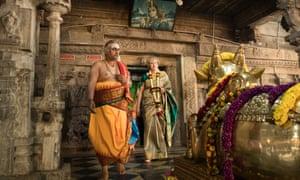 Theresa May at the Sri Someshwara Temple.