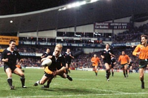 '<em>That</em>' tackle by George Gregan on All Blacks winger Jeff Wilson in the final seconds of the Bledisloe Cup in 1994.