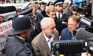 Jeremy Corbyn arriving for the NEC meeting on Tuesday