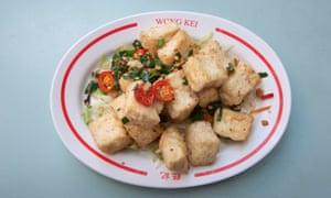 Wong Kei's salt and pepper fried bean curd