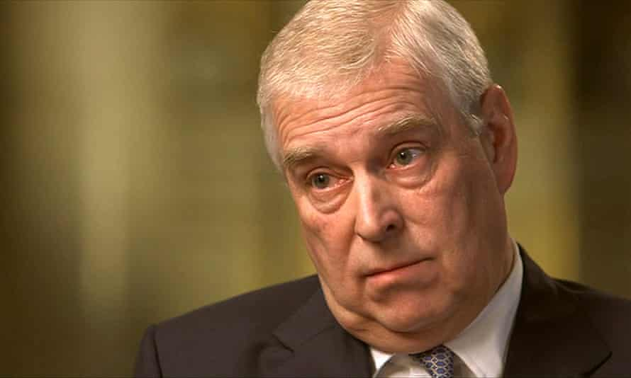 Prince Andrew during his controversial Newsnight interview.