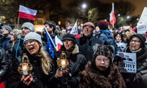 Thousands of Poles have been protesting against what they see as the government's attacks on democracy