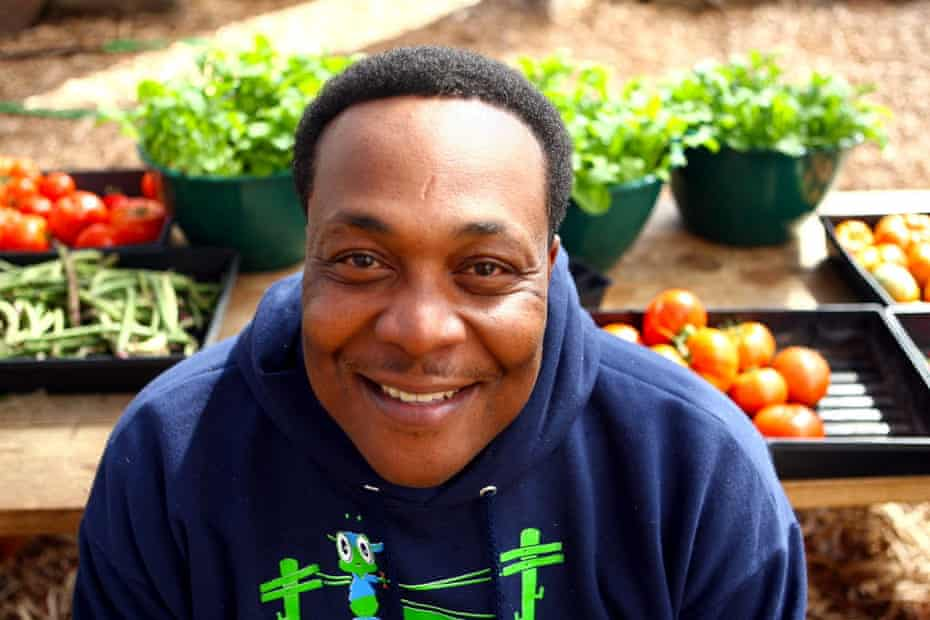 Damien Forshe, a co-founder of Rid-All in the Kinsman neighborhood, pictured in one of the six greenhouses in 2012, died Nov. 29, 2018, after a heart attack. The Plain Dealer, file photo