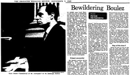 The Observer, 5 September 1965.