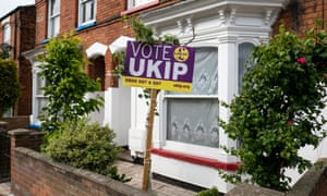 A Ukip sign in Boston, Lincolnshire.
