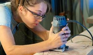 A female apprentice