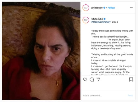 'A sense of fear' … the artist kept an Instagram diary of her changing moods in lockdown.