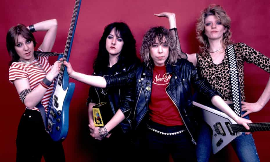 'We did see some stuff that wasn't great – you have to look the other way' … Girlschool in 1982, from left, Enid Williams, Kim McAuliffe, Denise Dufort, Kelly Johnson.