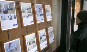 window of an estate agents