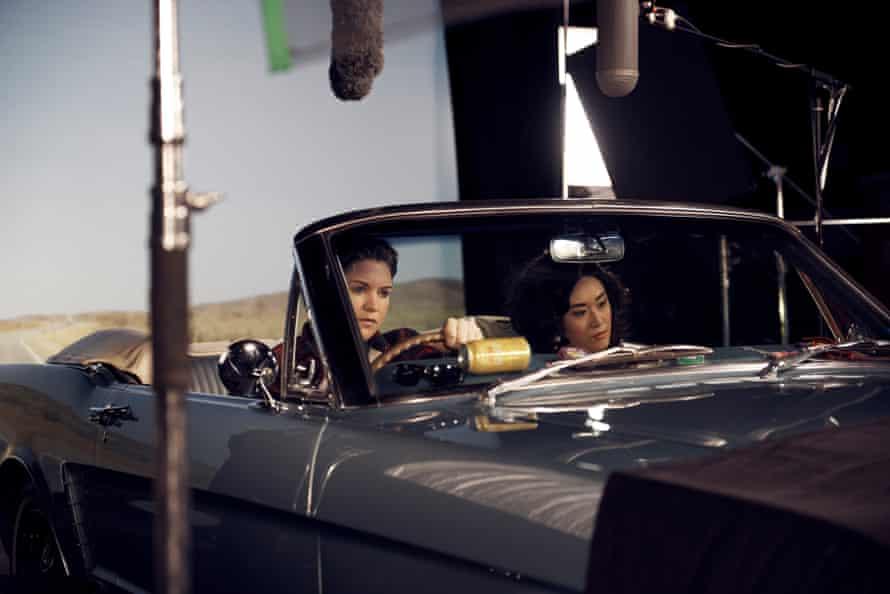 Nat Randall and Linda Chen filming Rear View