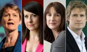 Yvette Cooper, Liz Kendall, Rachel Reeves and Tristram Hunt.