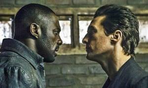 Idris Elba, left, and Matthew McConaughey in The Dark Tower.