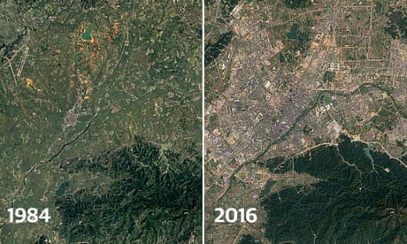 The great sprawl of China: timelapse images reveal 30-year growth of cities