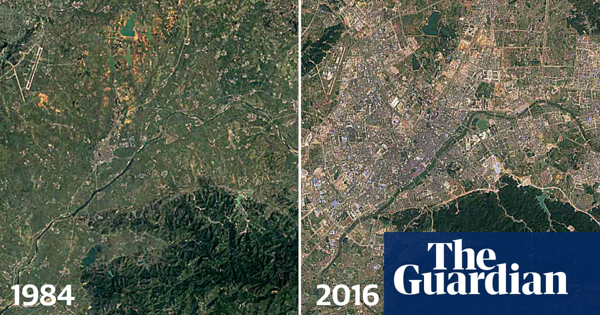 The great sprawl of China: timelapse images reveal 30-year