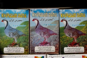 The favourite bird of many Afghans is the chukar partridge, an elegant reddish-grey bird, depicted here on boxes of grain