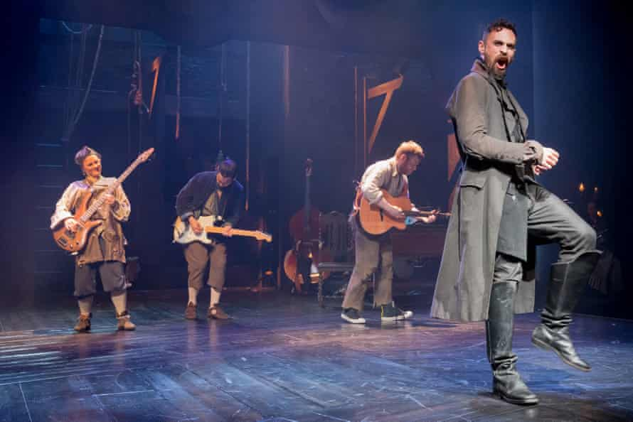 Alex Mugnaioni (right) as Macheath in The Beggar's Opera at the new Storyhouse theatre in Chester.