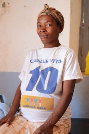 Marie Lucette Ravonjinahary, 38, at the health centre in Soavina in Madagascar