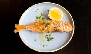 Use your fingers: red mullet.