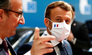 Emmanuel Macron arrived in Brussels for what is now the EU's longest summit in two decades.
