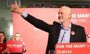 Jeremy Corbyn at a rally at Leicester Tigers' stadium on Saturday.