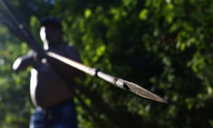 Ka'apor forest guardians patrol the borders of their resource-rich territory in Brazil's Maranhão state