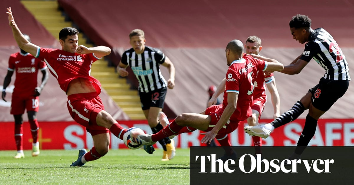 Newcastle's Willock dents Liverpool's top-four hopes with last-kick leveller