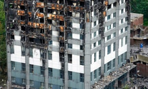 The lower floors of Grenfell Tower.