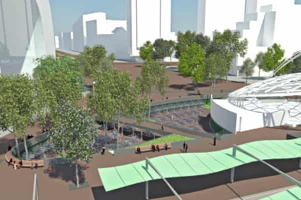 Rotterdam planned bike parking artist rendition