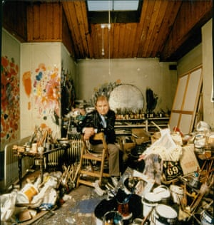 Clutter as creative ... Francis Bacon in his studio.