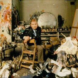 Francis Bacon in his studio,