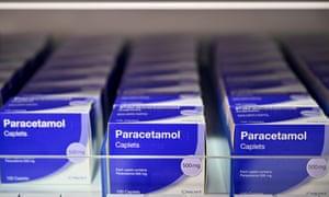 Packets of paracetamol.