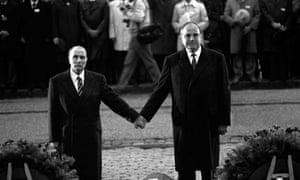 Helmut Kohl and François Mitterrand